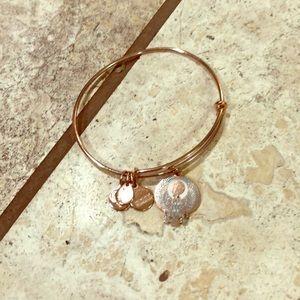 Alex and Ani bracelet rose gold